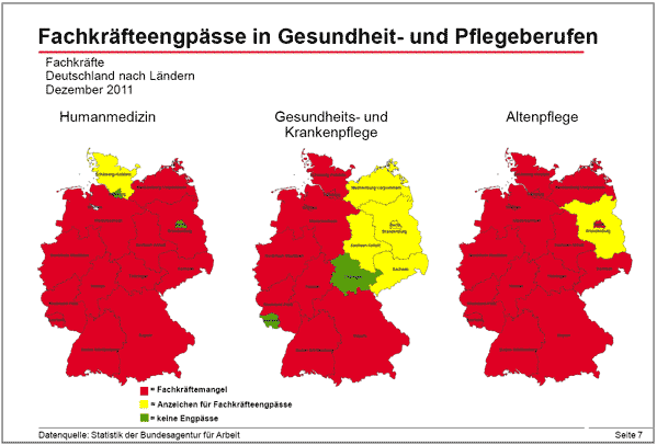 Fachkräftemangel Gesundheitswesen Deutschland 2011