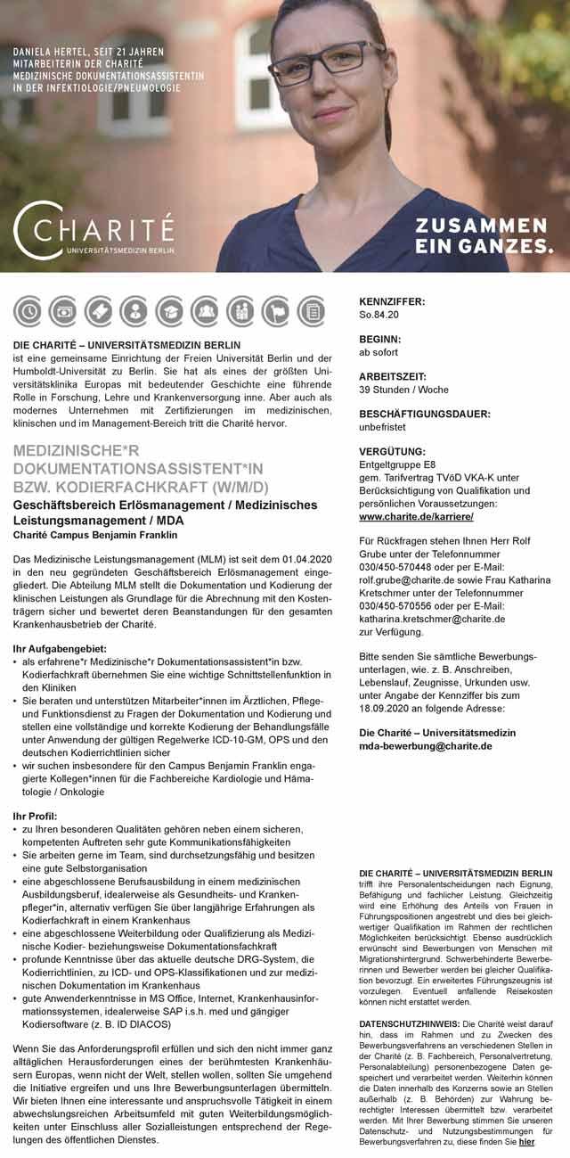 Charité - Universitätsmedizin Berlin: Controller (w/m/d)