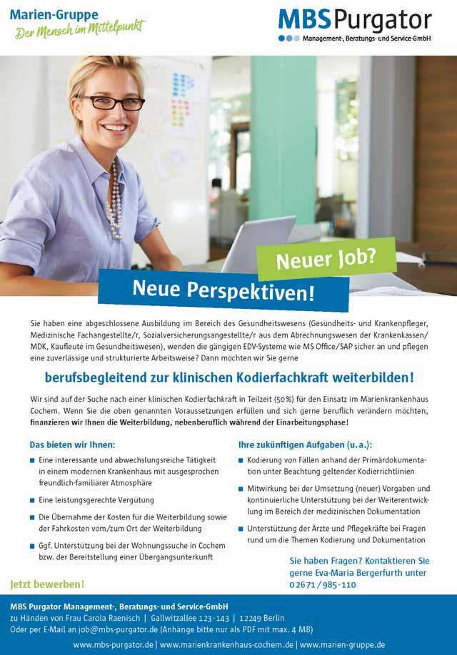 MBS Purgator GmbH: Klinische Kodierfachkraft (m/w/d)