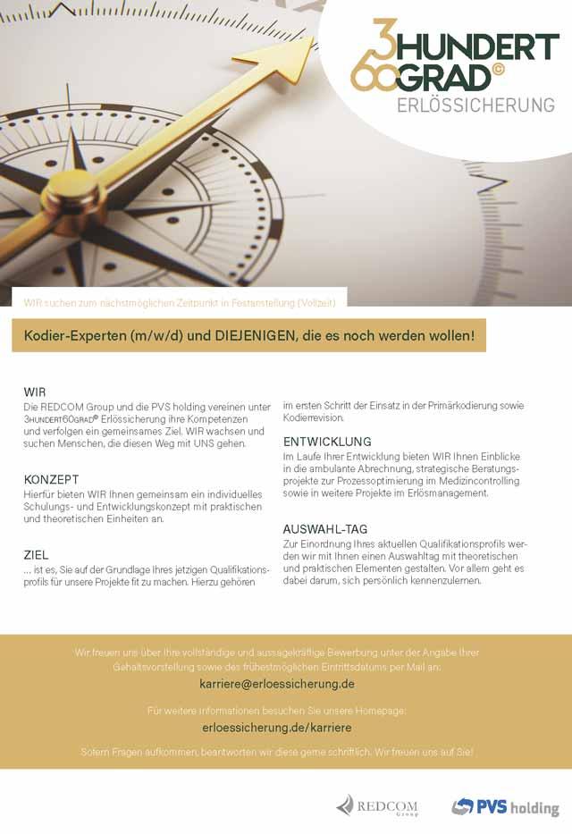 PVS Holding GmbH: Kodier-Experten (m/w/d)