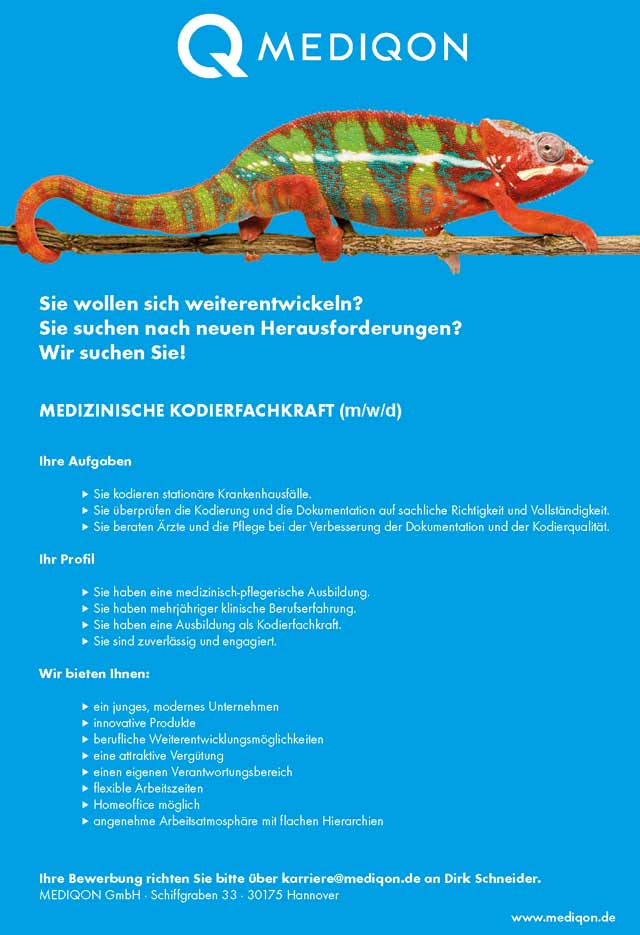 MEDIQON GmbH: Kodierfachkraft (m/w/d)