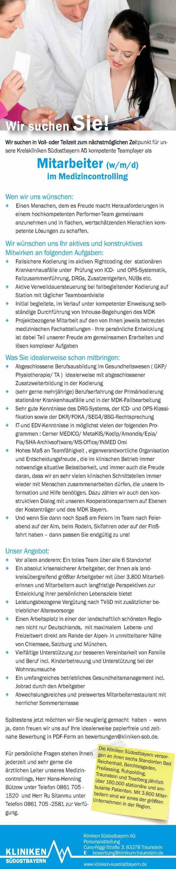 Kliniken Südostbayern AG: Mitarbeiter im Medizincontrolling (w/m/d)