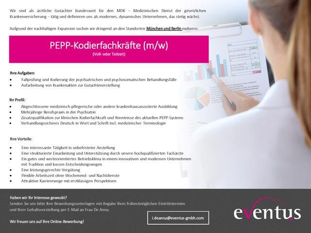 eventus GmbH: PEPP-Kodierfachkräfte (m/w)