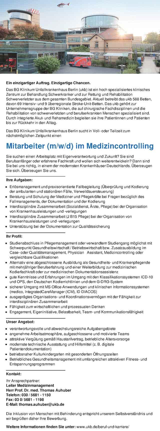 Klinikum Freising: Mitarbeiter Medizincontrolling (m/w/d)